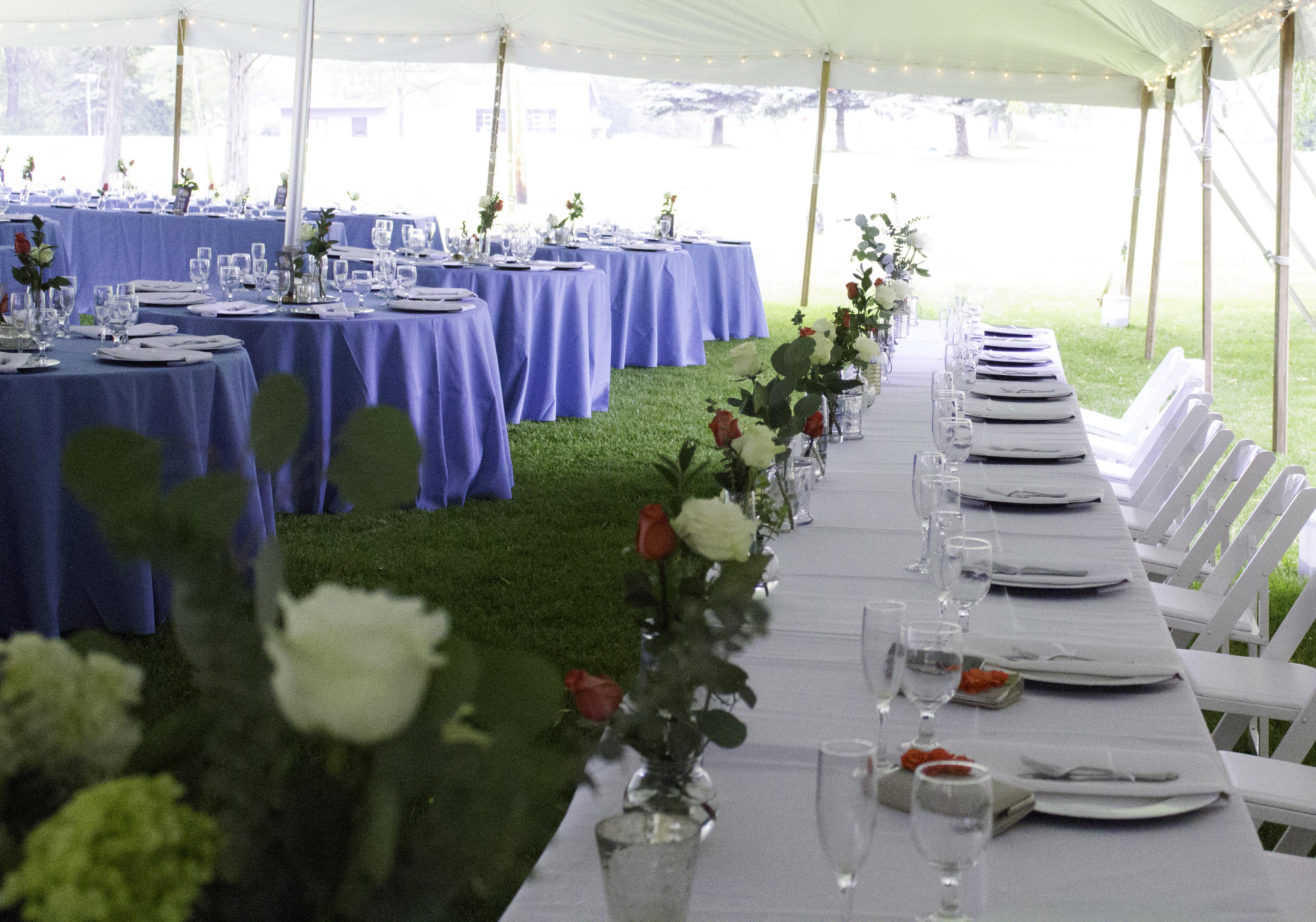 Spring Tent Wedding