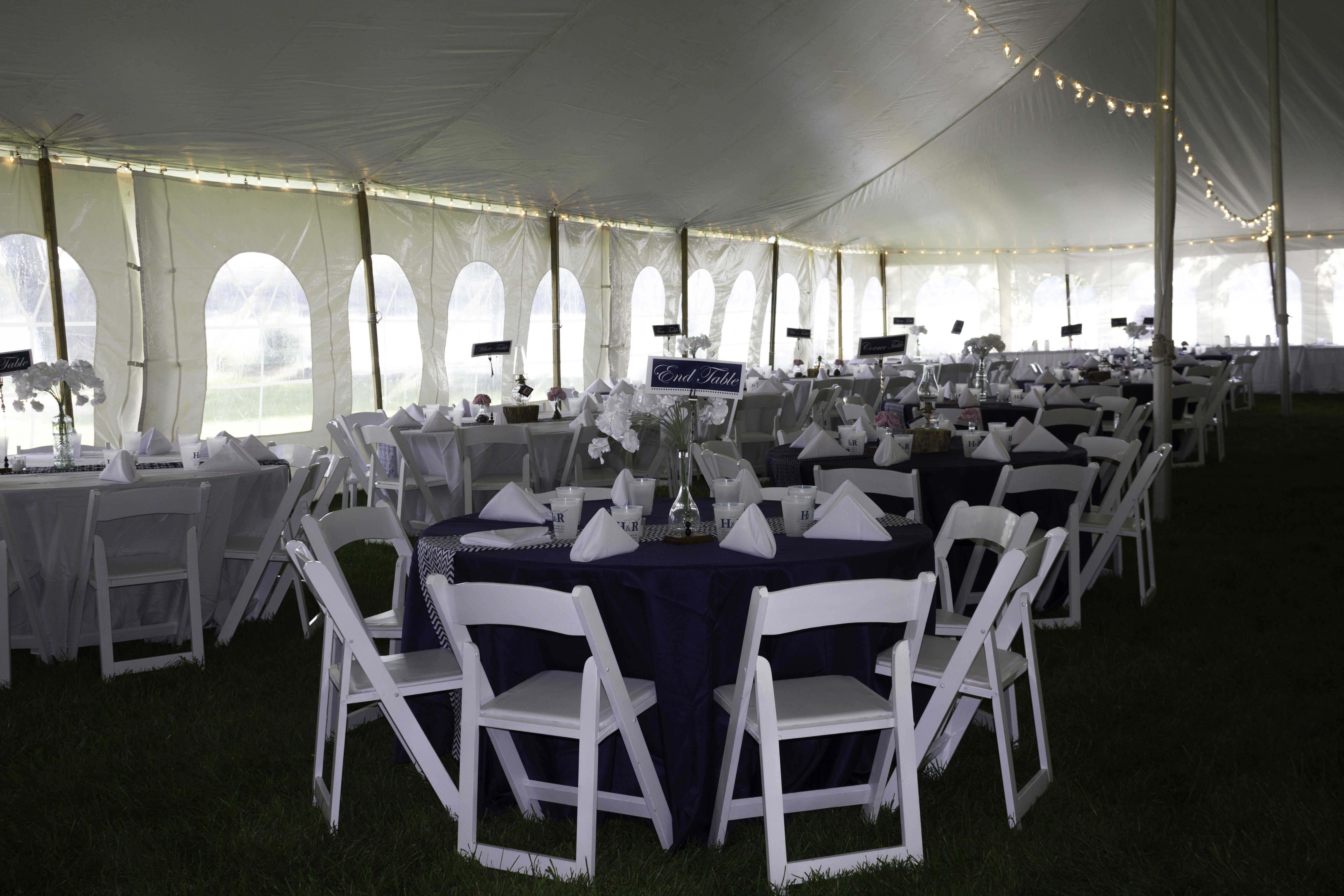 Nautical inspired Tent Reception