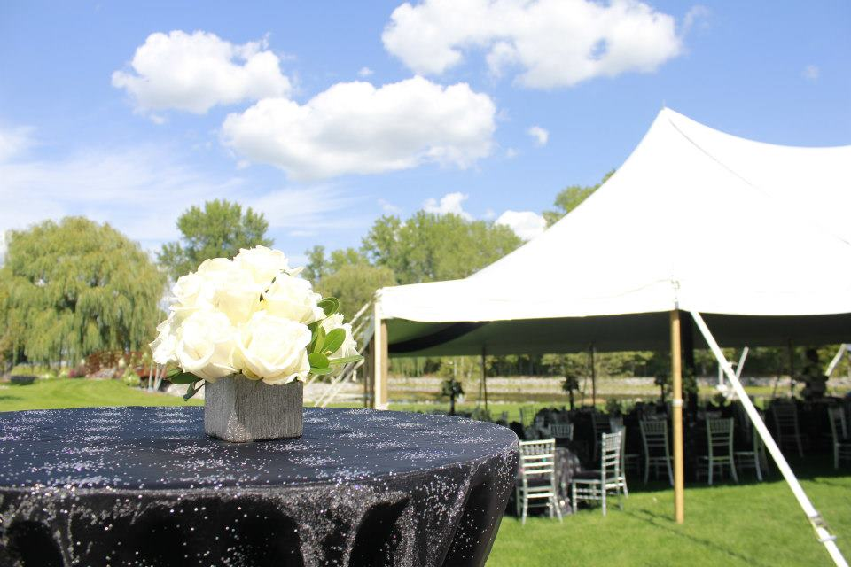 Black Sparkle Tent Reception