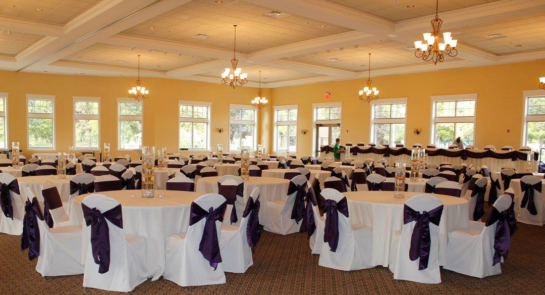 Dark Purple Wedding Reception
