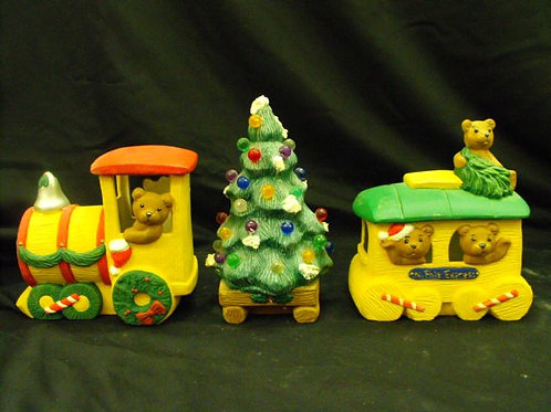 Christmas train with bear conducters
