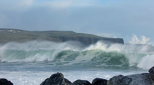 Ocean waves Cliffs of Moher Doolin Ireland