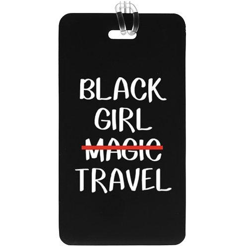 Black Girl Magic Travel Plastic Luggage Tag