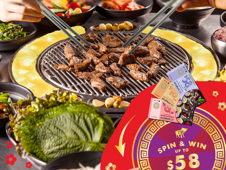 Gong Xi Fa Cai !  Win up to $58 dining vouchers this Chinese New Year!