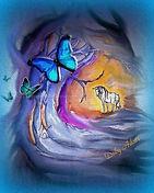 Unicorn Kisses-Deby Adair art. Unicorns of Wish Books.
