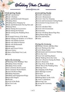Free Wedding Photo List Page 1