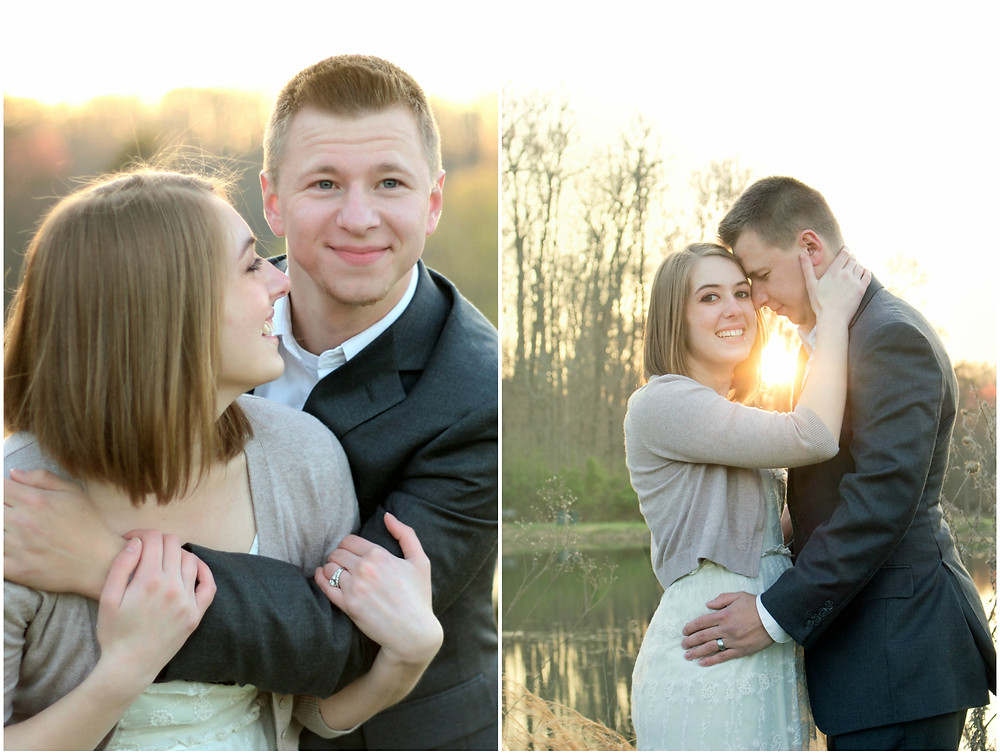 Mr and Mrs have their photos taken near a lake by Devon Photographers