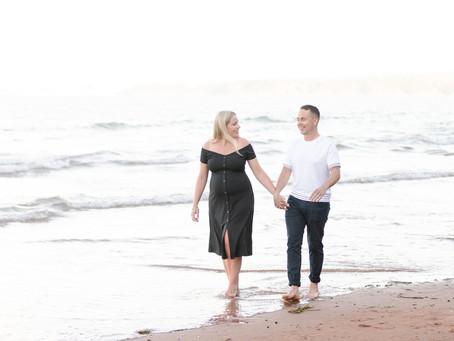 Emma & Jarred | Beach Maternity Session | Preston Sands Beach