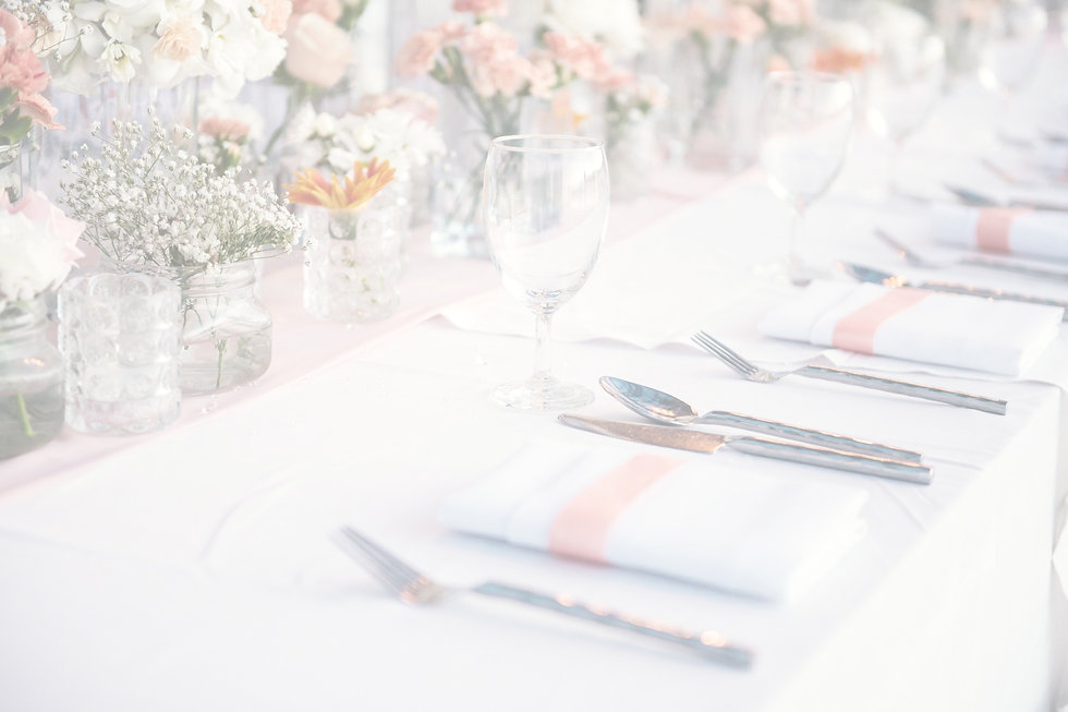 Light and airy wedding table setting, Devon wedding photography