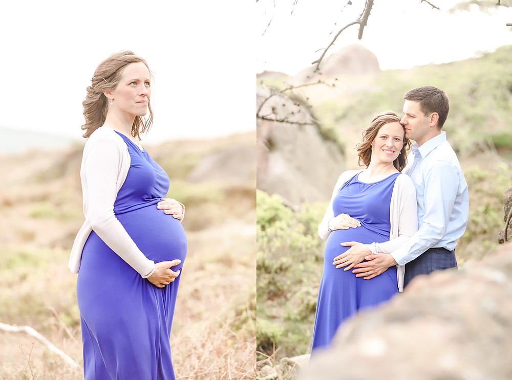 Maternity photoshoot by Exeter photographer in the Peak District