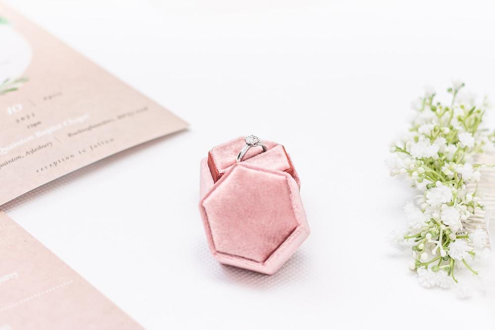 wedding ring, engagement ring, ring box