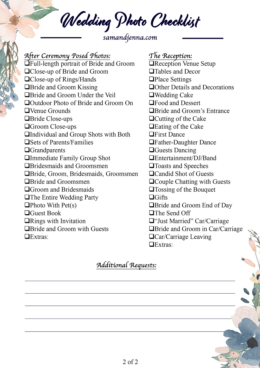 Free Wedding Photo List Page 2