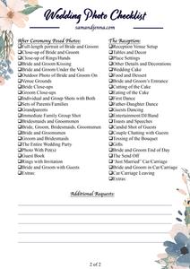 Free Wedding Photo List Page 2