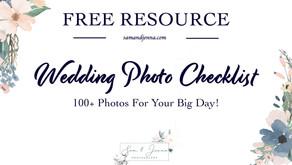 Wedding Photo List | FREE DOWNLOAD