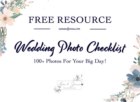 Wedding Photo List | FREE DOWNLOAD