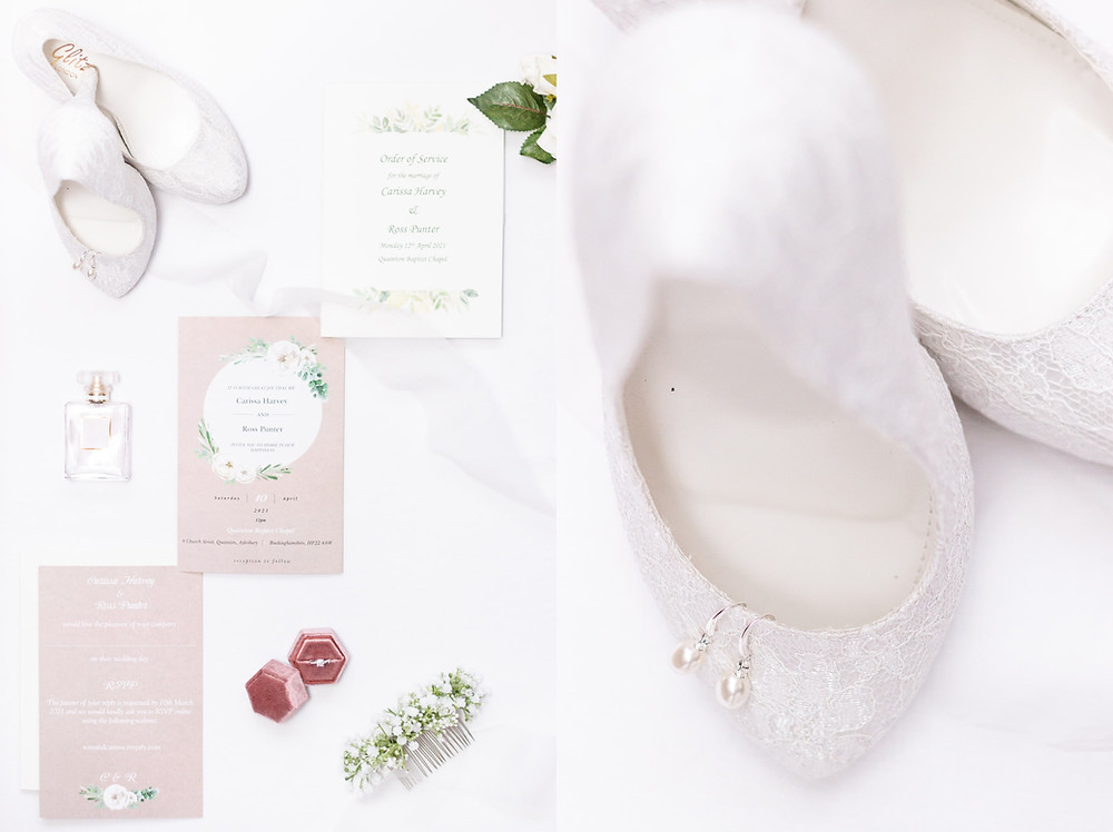 wedding details, wedding shoes, earings, wedding ring, wedding invitation, wedding flowers