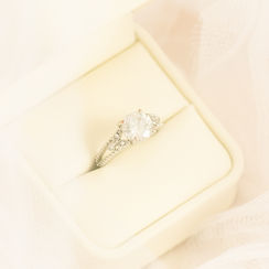 Detailed ring photo during Devon wedding day