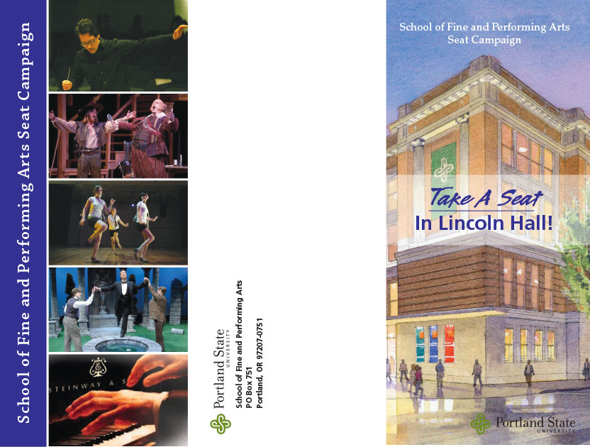 PSU Lincoln Hall fundraising flyer