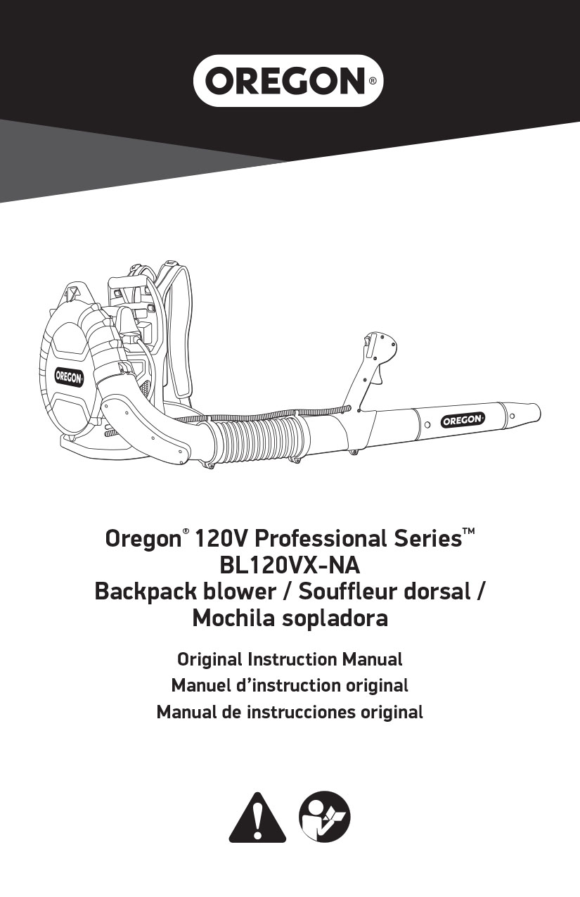 Oregon ProBC blower manual