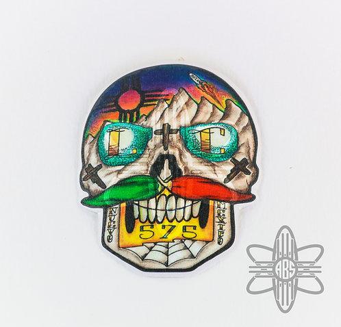 Las Cruces Sugar Skull Sticker