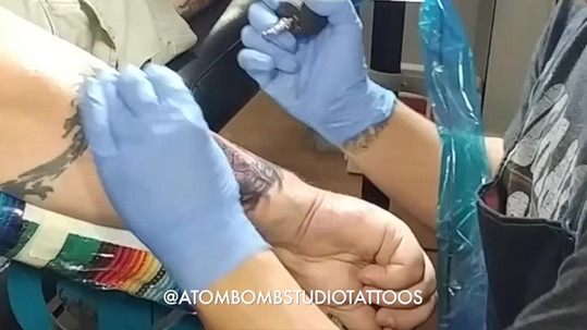 Darth Vader Tattoo Time Lapse
