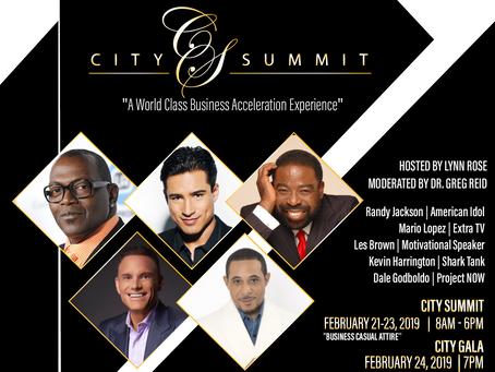 City Summit & Gala 2019 Announces Les Brown, Mario Lopez, Kevin Harrington, Jeff Hoffman, Dale G