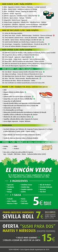 Carta Septiembre 2019 Sushi Múdakí