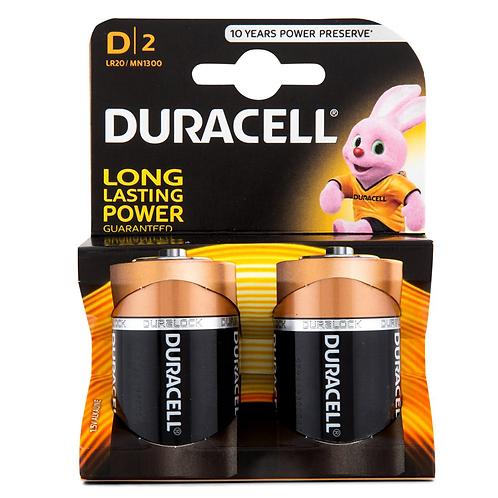 DURACELL D CELL 2PK