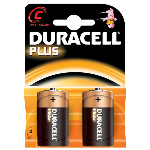 DURACELL C CELL 2PK