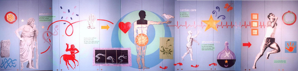 Physiotherapy mural in dance studio