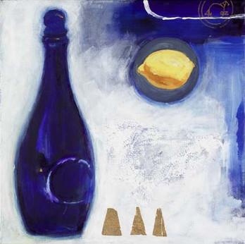Blue bottle & lemon