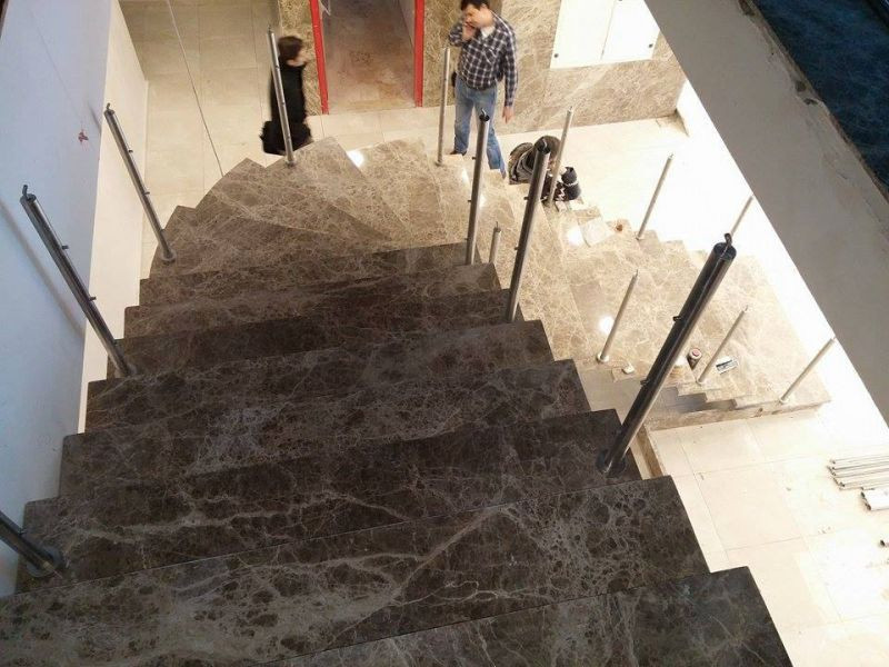 Presently, Dark Emperador is used for stairs.