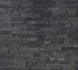 stacked stone ledger panel - BLACKED MAR