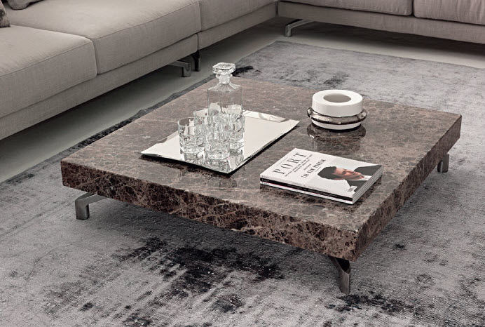 Dark Emperador is rather good for dining or coffee table