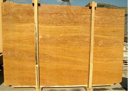 yellow travertine vein cut - golden travertine slab