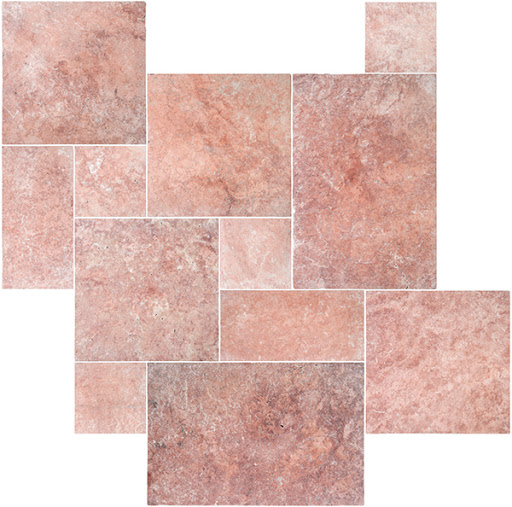 Red Travertine Pattern Set