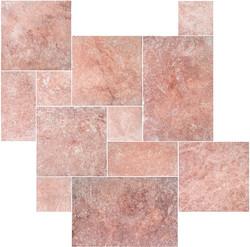 Red Travertine Pattern Set