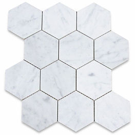 hexagon stone mosaic - carrara white.jpg