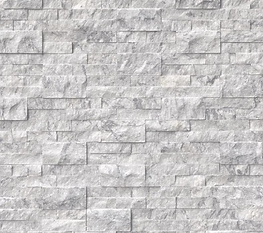 stacked stone ledger panel - mugla white