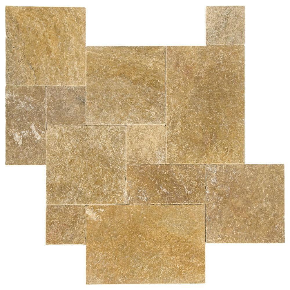 Yellow Travertine Pattern Set