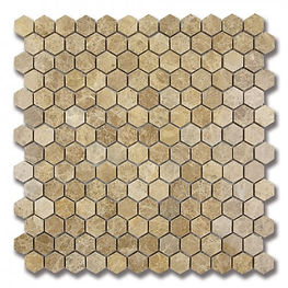 honeycomb stone mosaic  - light emperado