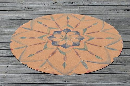 Kaleidoscope Round Eco Yoga Mat
