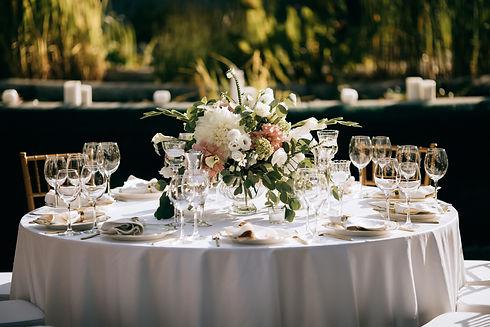elegant table set, Table decoration at t