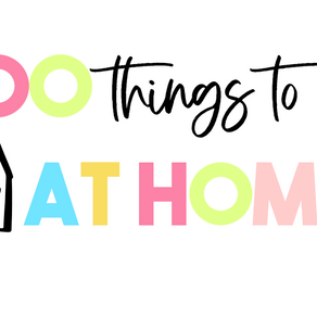 100 Things to Do at Home Kids & Adults