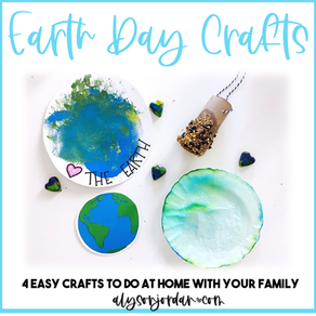 Easy Earth Day Crafts for At Home Learning