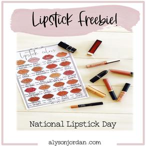 Lipstick Day Freebie!