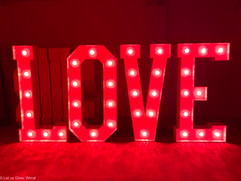 5ft DMX controlled light up letters