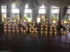 "5ft dmx controlled LED ""Mrs & Mrs"" light up letters"