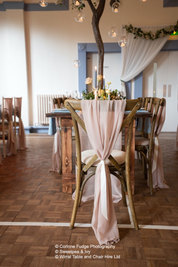 Rustic table and chair hire Wirral