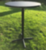 Poseur table to hire